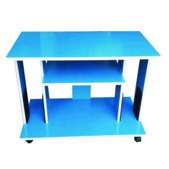 ต้องการขาย SPK SHOP ชั้นไม้วางทีวี จอแบน รุ่น TV Side 80 (สีฟ้า)
