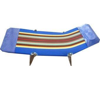SR เตียงสนาม 3 พับ ผ้ากำมะหยี่ ปรับเอนนอนได้ 3 ระดับ (สีน้ำเงิน) รีวิว