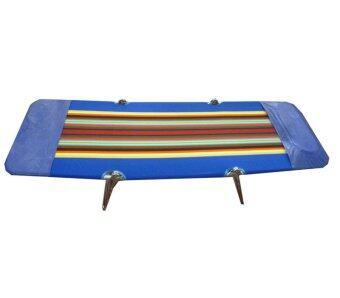 SR เตียงสนาม 3 พับ ผ้ากำมะหยี่ ปรับเอนนอนได้ 3 ระดับ (สีน้ำเงิน) ดีไหม
