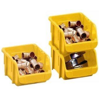 STACK-ON กล่องเก็บของอเนกประสงค์ขนาดเล็ก รุ่น BIN-7 แพ็ค 3 ชิ้น(สีเหลือง)