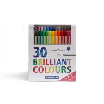Staedtler ปากกา Triplus fineliner 30 Brilliant colours