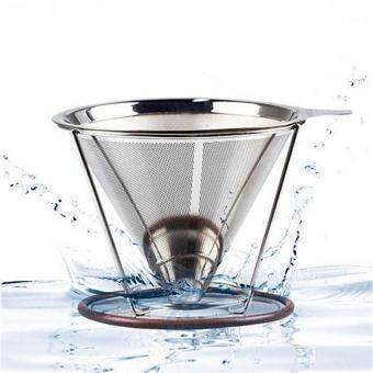 Stainless Steel Coffee Filter Coffee Dripper Pour Over Coffee MakerDrip Reusable Coffee Filter - intl