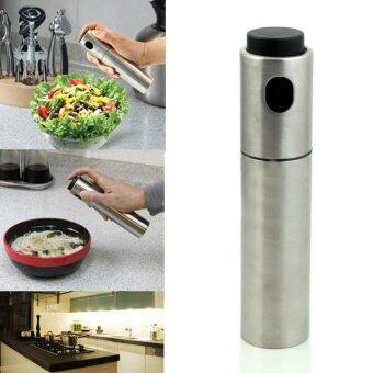 Harga Stainless Steel Olive Pump Spray Bottle Oil Sprayer Pot CookingTool Hot