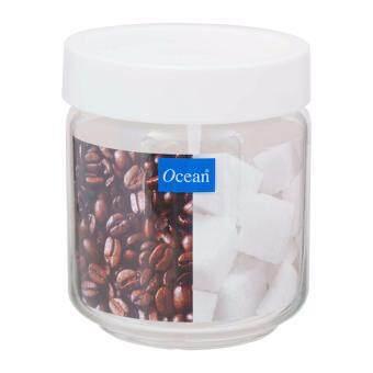 เปรียบเทียบราคา โอเชียน ขวดโหลแก้วสแตค Stax Jar ขนาด 500 มล. (สีขาว) Ocean x 1 ขวด