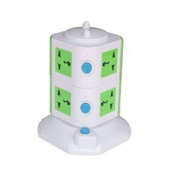 STS ปลั๊กไฟทาวเวอร์ 2 ชั้น+ USB Tower Plug+USB – Green