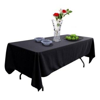 รีวิวพันทิป สีดำผ้าปูโต๊ะพลาสติกสำหรับงานวันเกิดงานแต่งงาน Tablecovers 137.16ซมX 274.32ซม