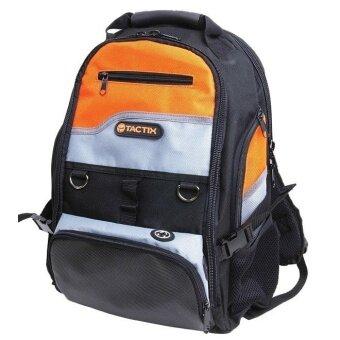 Tactix 323147 กระเป๋าเครื่องมือช่าง อุปกรณ์ช่าง (สีดำ/สีส้ม)