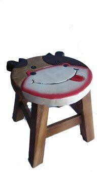 Tano เก้าอี้ไม้แกะสลักลายวัว