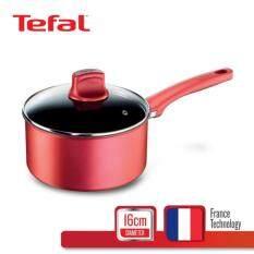 Tefal หม้อด้ามพร้อมฝาแก้ว 16 ซม. รุ่น Character C6822272