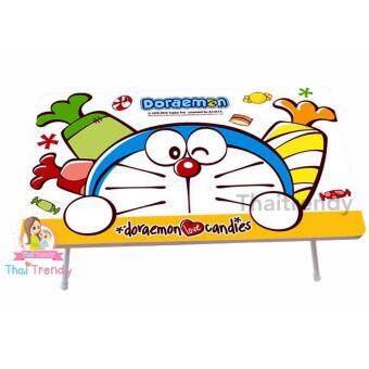 Thaitrendy โต๊ะญี่ปุ่น โต๊ะกินข้าว โต๊ะทำงาน ขนาด 60x40 ลาย Doraemon