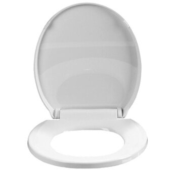 Toilet Seat Slow-Close Molded O thick ring Toilet Seat cover Easy Clean - intl