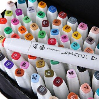 Touch Five Colors Graphic Art Twin Marker Point Tip Pen color:Blacksize:60 - intl