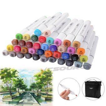 TOUCHNEW ชุดปากกา 2 หัวColor Marker Pen Set Alcohol Twin Tip Broad Fine Point สำหรับ การวาดภาพ วาดแบบ (40 ชิ้น)