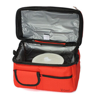 Travel BBQ Camping Picnic Lunch Insulated Cooler Cool ice bag Food Drink Carrier Red