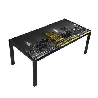 TSF โต๊ะกลางโซฟาโครงเหล็กหน้ากระจกหนา 6 MM. รุ่น New York 3