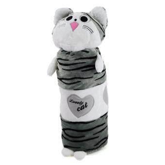 ตุ๊กตาหมอนข้างแมว chi ขนาดเล็ก สีขาวเทา