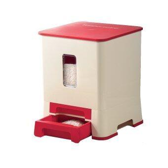 Tupperware ถังข้าวสารโมเดิร์นสแควร์ (สีแดง)