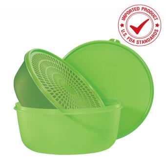Tupperware โคมใส่อาหาร 4 ลิตร พร้อมโคมตะแกรงล้างผักพร้อมฝา