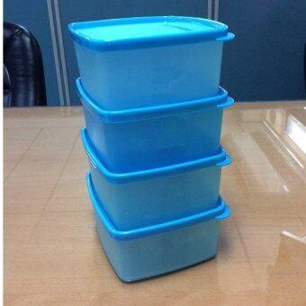 ขายด่วน Tupperware กล่องเหมันต์เล็ก สีฟ้า (4)