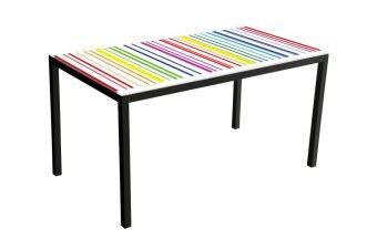 รีวิวพันทิป U-RO DÉCOR โต๊ะอาหาร/โต๊ะทำงาน อเนกประสงค์ ขนาด 140 ซม. รุ่น STRIPE