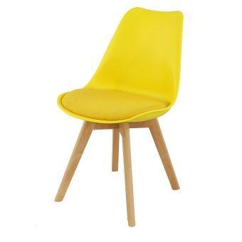 U-RO DECOR เก้าอี้รับประทานอาหาร รุ่น CENTO (สีเหลือง/ขาไม้บีช)