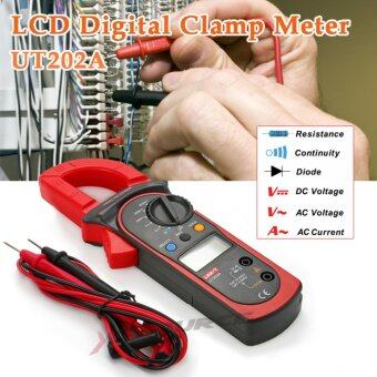 ดิจิติลมัลติมิเตอร์ UNI-T UT202A LCD Digital Multimeter Clamp Meter Tester AC 600A AMPS Voltage
