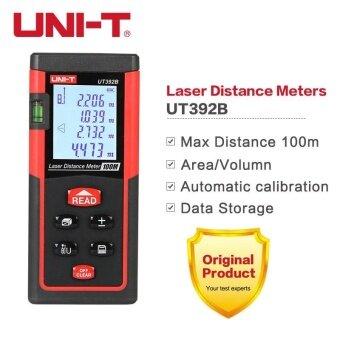 UNI-T UT392B เครื่องวัดระยะเลเซอร์ 100 เมตรช่วงพื้นที่เพิ่มลบการวัดอย่างต่อเนื่อง Rangefinder