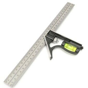 Universal 300Mm Adjustable Stainless Steel Multi-FunctionalCombination Of Test Square a Ngle - intl