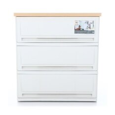 UP ตู้ลิ้นชักพลาสติก (ท๊อปไม้) SUMO-WOODTOP (3 ชั้น)