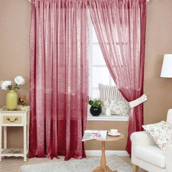 VAKIND Valances Floral Tulle Door Window Curtain