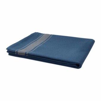 VARDAGEN ผ้าปูโต๊ะ สีน้ำเงินและเบจ (ขนาด 145x240 ซม.)