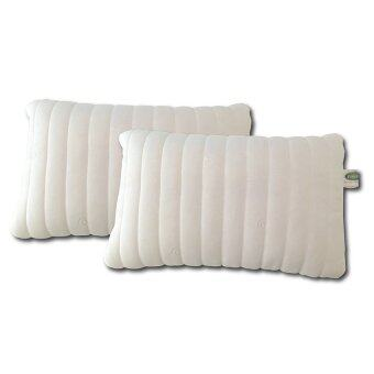 Ventry Latex Natural Touch Pillow หมอนยางพาราปั่น รุ่น Delight (สีขาว/ครีม) แพ็ค 2 ชิ้น
