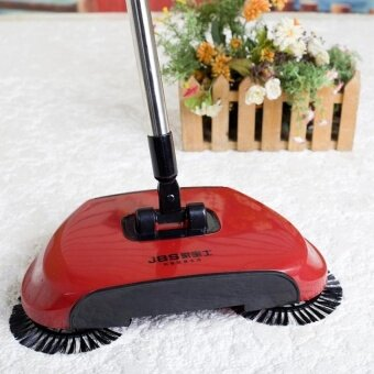 Victory New Brooms Originality Hand Push Sweeping Machine Broomdustpan Combination Rotate Cleaning Broom(Red)