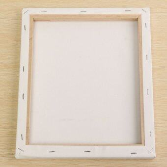 White Blank Square Canvas Board Wooden Frame For Art Artist Oil Acrylic Paints 25x30cm - Intl