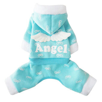 ประกาศขาย Winter Small Pet Dog Cat Clothes Apparel Hoodie Angel Wings FurJumpsuit