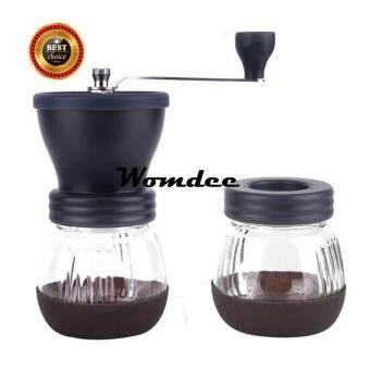 Womdee Adjustable Premium Ceramic Burr Hand Coffee Grinders Manual Coffee Grinder Mill (Black) - intl