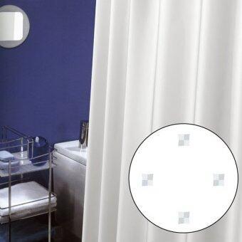 ผ้าม่านห้องน้ำ WSP รุ่น SCP- 9MSN2005 พื้นสีขาว