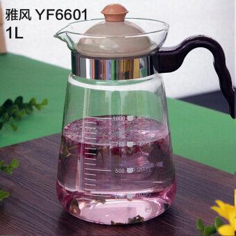 YAVON Pyrex กรองกาน้ำชาแก้วกาน้ำชา