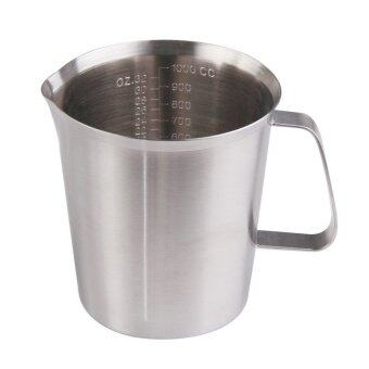 YBC 1000ml Stainless Steel Cup Graduated Glass Liquid Measuring Cups