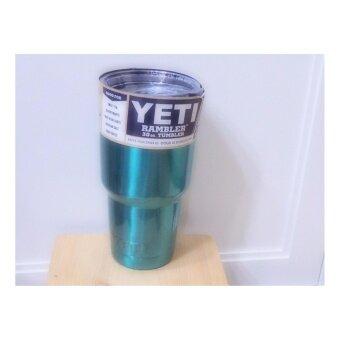 แก้วน้ำเก็บอุณหูมิ(YETI)สีเขียวเข้ม 30oz.