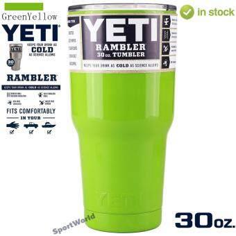 YETI Rambler แก้วเก็บความเย็น เก็บน้ำแข็งได้นาน 24ชั่วโมง - สีเขียว