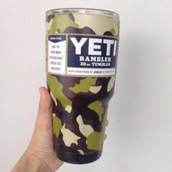 YETI Rambler แก้วเก็บความเย็นนาน 24 ชั่วโมง ขนาด30ออนซ์ ลายทหาาร002