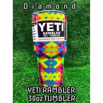 YETI Rambler ลาย Limited edition แก้วเก็บความเย็นนาน 24 ชั่วโมง น้ำแข็งไม่ละลาย ไม่มีไอน้ำระเหยเกาะรอบแก้ว เหมาะสำหรับทุกทริปการเดินทาง ขนาด30ออนซ์
