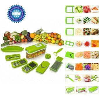 YHL Nicer Dicer Plus ชุดอุปกรณ์หั่นผักผลไม้ เครื่องหั่นผักผลไม้เครื่องสไลด์ผักผลไม้ ชุดสไลซ์ผักผลไม้ หั่น ปอก สับ ฝาน 12 ชิ้น