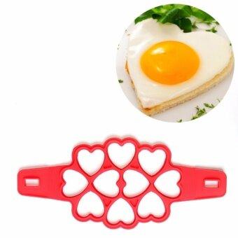 Yika Non Stick Pancake Pan Flip Perfect Breakfast Maker EggOmelette Flippin Tools(10 Heart) - intl