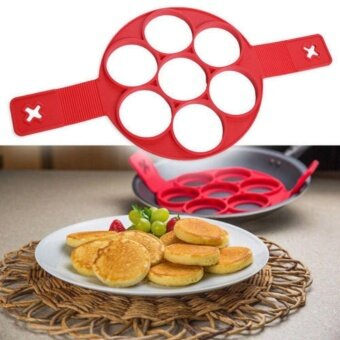 Yika Non Stick Pancake Pan Flip Perfect Breakfast Maker EggOmelette Flippin Tools(7 Round) - intl