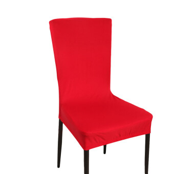 Yingwei ปกแข็งบนเก้าอี้อาหารสำหรับประธานพิธีห่มผ้าคลุมเก้าอี้อาหารไวน์แดง