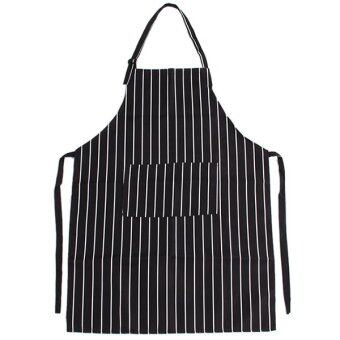 Yingwei Kitchen Aprons Striped Aprons Black/White