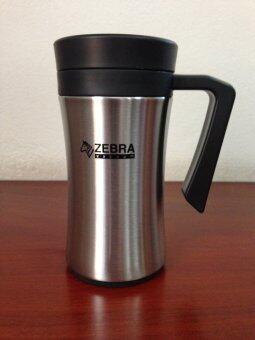 Zebra ถ้วยน้ำสุญญากาศ Curve 0.45 ลิตร ฝาสีดำ