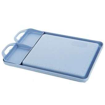 ZH creative and thick-cut fruit household plastic anti-skid cutting board(blue) - intl